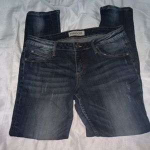 MAURICE'S skinny fit destressed jeans. Size 31
